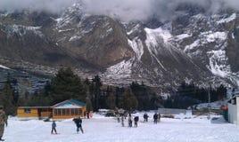 Ski dans le ciel Images libres de droits