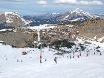 Ski dans les Alpes Image libre de droits