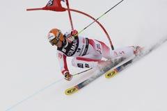 SKI: De alpiene ReuzeSlalom van Alta Badia van de Kop van de Wereld van de Ski Stock Fotografie