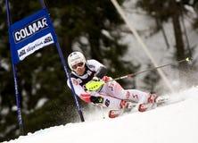 SKI: De alpiene ReuzeSlalom van Alta Badia van de Kop van de Wereld van de Ski royalty-vrije stock fotografie