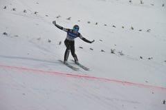 Ski de carte de travail pilotant Vikersund (Norvège) le 14 février 2015 Images libres de droits