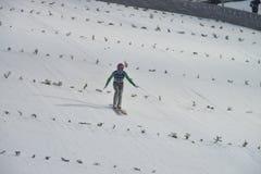 Ski de carte de travail pilotant Vikersund (Norvège) le 14 février 2015 Photo stock