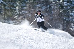Ski de femme de Winer Image libre de droits