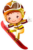 Ski de fille Photo stock