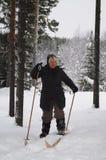 Ski de fond, Suède Image libre de droits