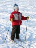 Ski de garçon Photo libre de droits