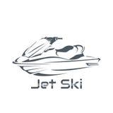 Ski de jet de logo, scooter Photos libres de droits