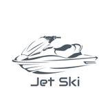 Ski de jet de logo, scooter Photo stock