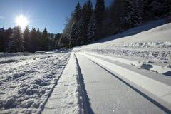 Ski de pays en travers images libres de droits