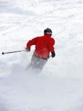 Ski de poudre Photographie stock libre de droits