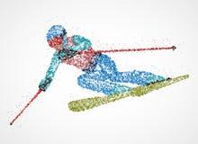 Ski de skieur d'abstraction Photographie stock