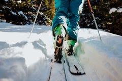 Ski, der in Winter in Österreich bereist Lizenzfreie Stockfotografie