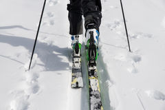 Ski die dicht omhoog reizen Stock Fotografie
