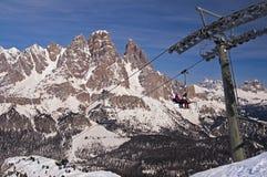 Ski in Dolomites, Italy Stock Images