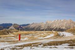 Ski Domain Wthout Snow in de Winter Royalty-vrije Stock Afbeeldingen