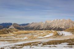 Ski Domain Wthout Snow in de Winter Royalty-vrije Stock Foto
