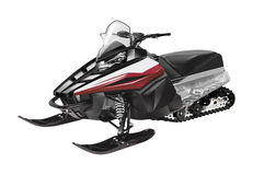 Ski-doo de motoneige d'isolement photographie stock