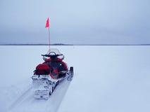 Ski-Doo Safari. A ski-doo in the Arctic Circle, Finland Royalty Free Stock Images