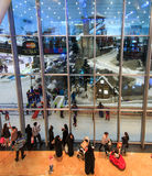 Ski Dubai inside the Mall of the Emirates in Dubai, UAE. Royalty Free Stock Image