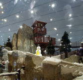 Ski Dubai, United Arab Emirates. Is an indoor ski resort with 22,500 square meters of indoor ski area. It is a part of the Mall of the Emirates, one of the Stock Photos