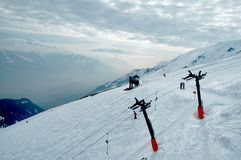 Ski elevator Royalty Free Stock Photography