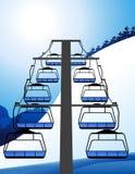 Ski elevator Stock Image