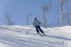 Ski en descendant Images libres de droits