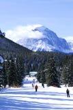 Ski en montagnes photo stock