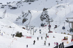 Ski en sierra Nevada Images libres de droits