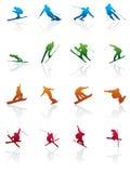 Ski en snowboard pictogram Royalty-vrije Stock Afbeelding