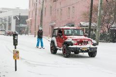 Ski?end op Calhoun St in Charleston, Sc royalty-vrije stock afbeelding