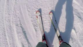 Ski?end op de berg de Pyreneeën in Spanje, Masella stock videobeelden