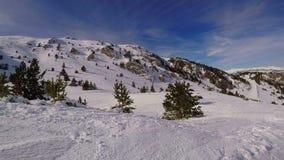 Ski?end op de berg de Pyreneeën in Spanje, Masella stock video