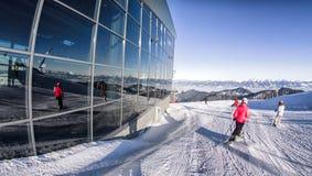 Ski?end in skitoevlucht Jasna, Slowakije Stock Afbeeldingen