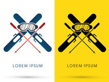 Ski. Equipment composition , graphic Royalty Free Stock Photo