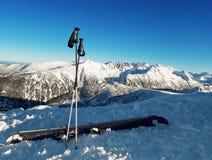 Ski equipment stock image