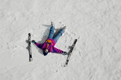 Ski fahren Stockfoto