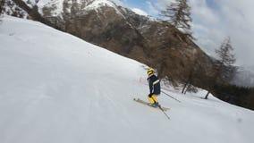 Ski fahren stock footage