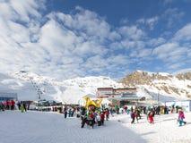 Ski fahren auf dem Gletscher Lizenzfreie Stockfotografie