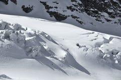 Ski fahren auf dem Gletscher Lizenzfreies Stockfoto