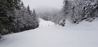 Ski fahren bei Abetone lizenzfreies stockbild