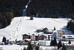 Ski fahren in Davos Stockfotografie