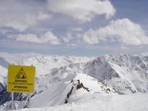Ski fahren in den französischen Alpen Stockfotos