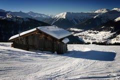 Ski fahren in den Schweizer Alpen Stockfoto