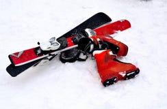 Ski fahren für Kinder Lizenzfreie Stockfotos