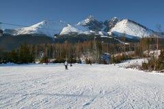 Ski fahren in hohem Tatras Stockbild