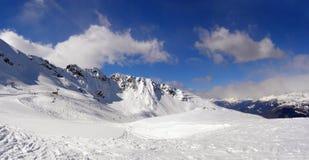 Ski fahren im Apls Stockfotografie