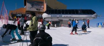 Ski fahren in Italien Stockbild