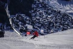 Ski fahren in Verbier stockfoto