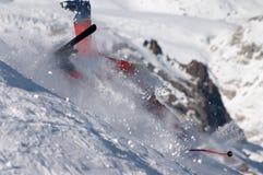 Ski fall Stock Photo
